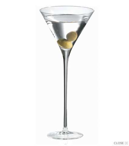 Martini Long Stem Glasses