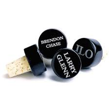 Personalized Marble Wine Bottle Stoppers (set of 4)