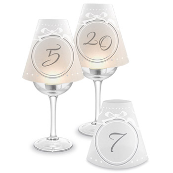 Table Numbers Wine Glass Lampshades