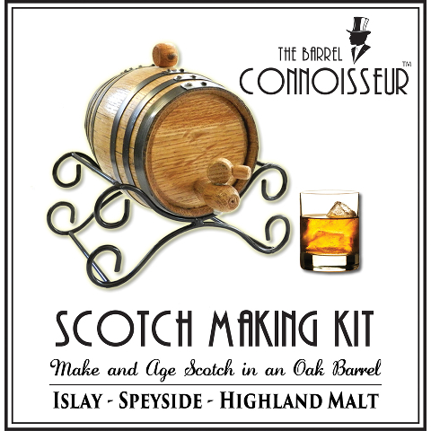 The Barrel Connoisseur Scotch Whiskey Making Kit