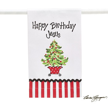 Happy Birthday Jesus Kitchen Towel