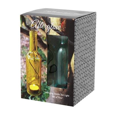 Wine Bottle Tealight Solid (set of 4)