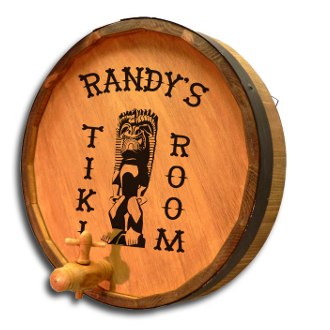 Tiki Room Personalized Quarter Barrel Sign