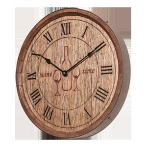 Wine Time Sixteenth Barrel Clock