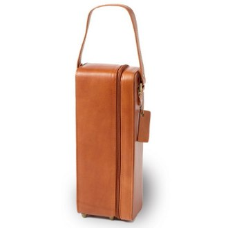 Tuscan Tan Leather One Wine Bottle Holder