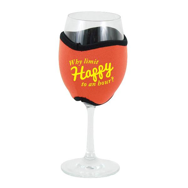 Neoprene Insulating Wine Glass Hug, Why Limit Happy Hour