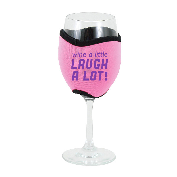 Neoprene Insulating Wine Glass Hug, Wine a Little