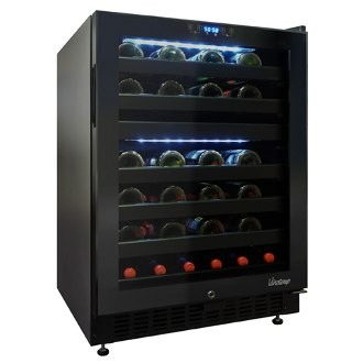 46 Bottle Dual-Zone Touch Screen Wine Cooler, Right Hinge