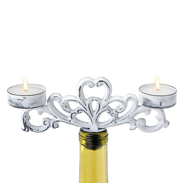 Vintage Chic Double Tealight Candelabra
