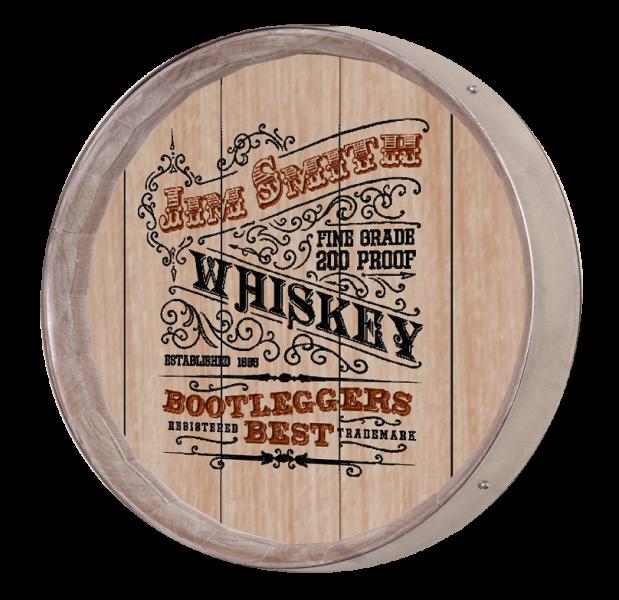 Personalized Vintage Whiskey Label Barrel Sign