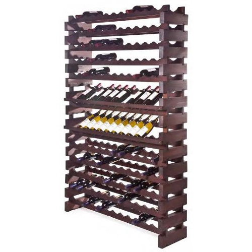 144 Bottle Modular Wall Unit Wine Rack - Stained