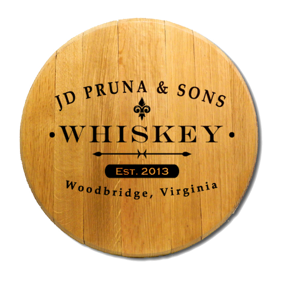 Personalized Classic Label Barrel Head Sign