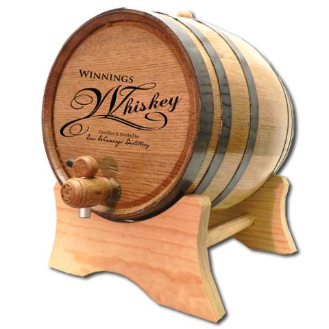 Personalized Whiskey Oak Barrel