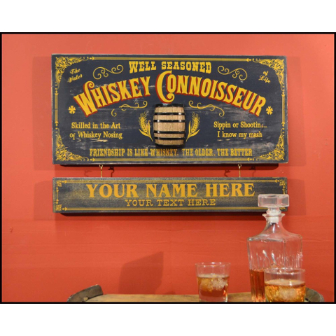 Whiskey Connoisseur Personalized Wall Decor