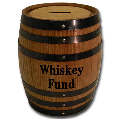 Whiskey Fund Mini Oak Barrel Bank