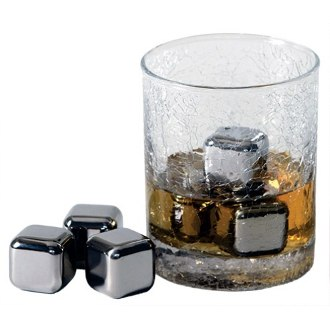 Steel Ice Cubes Deluxe Set, Stainless Steel