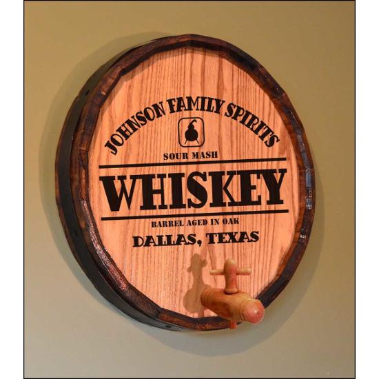 Personalized Whiskey Still Quarter Barrel Sign