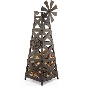 Windmill Wine Corks Cage