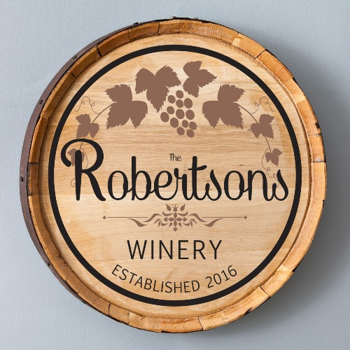 Wine Barrel Sign - Personalized