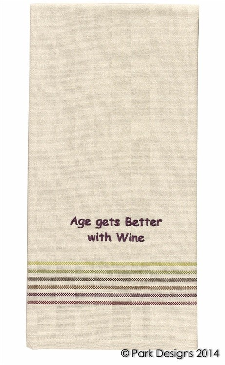 Age Gets Better With Wine Dishtowel