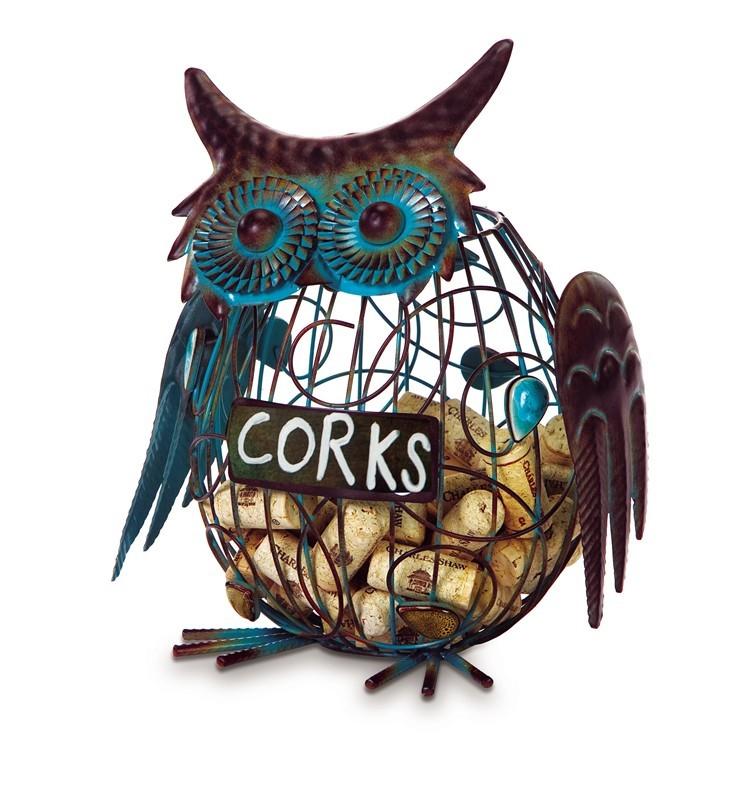 Cork Caddy Owl