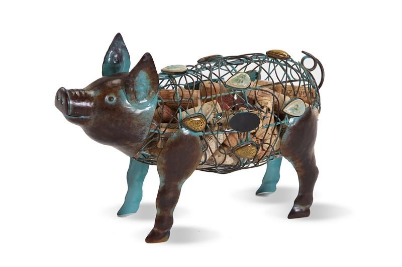 Cork Caddy Pig