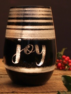 Holiday Cosmo Black & Silver Wine Tumblers (set of 4)