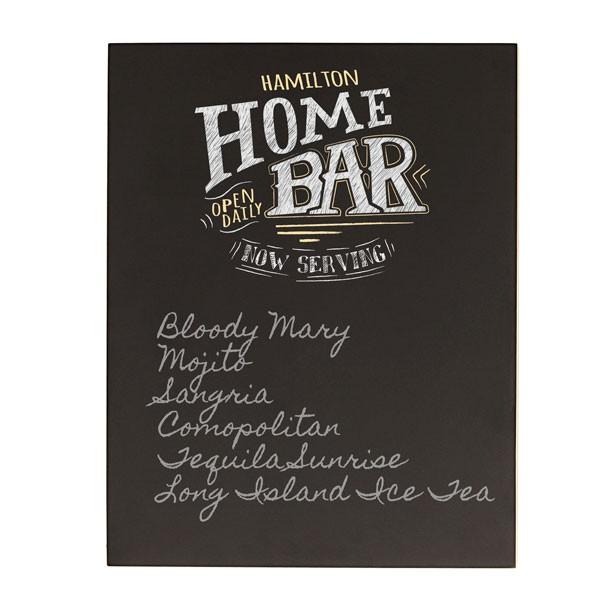 Personalized Bar Menu Chalkboard