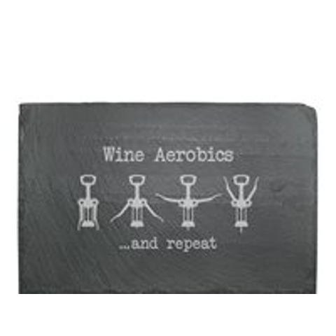 Wine Aerobics Cheese Serving Slate