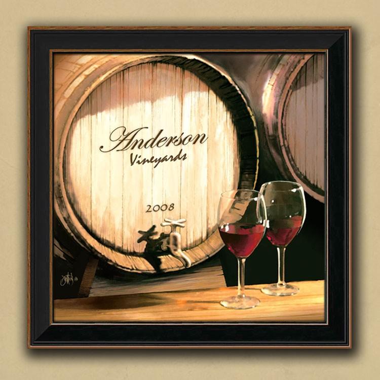 Fine Wine Personalized Canvas Art