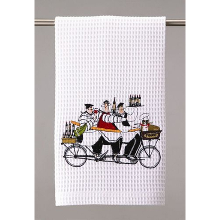 Bicycle Built for Three Wine Drinkers Towel