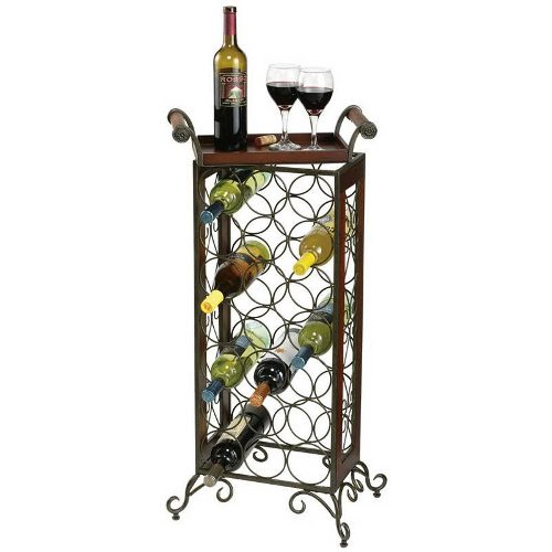 Wine Butler Wrought Iron Wine Rack