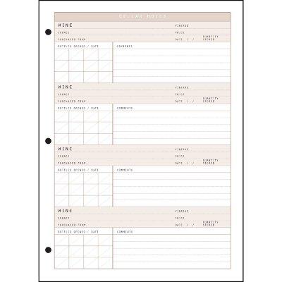 Wine Dossier Cellar Notes, 20 Sheet Refill