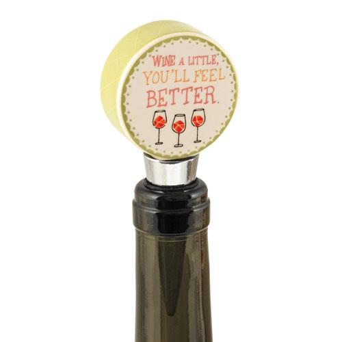 Wine A Little, You'll Feel Better Bottle Stopper