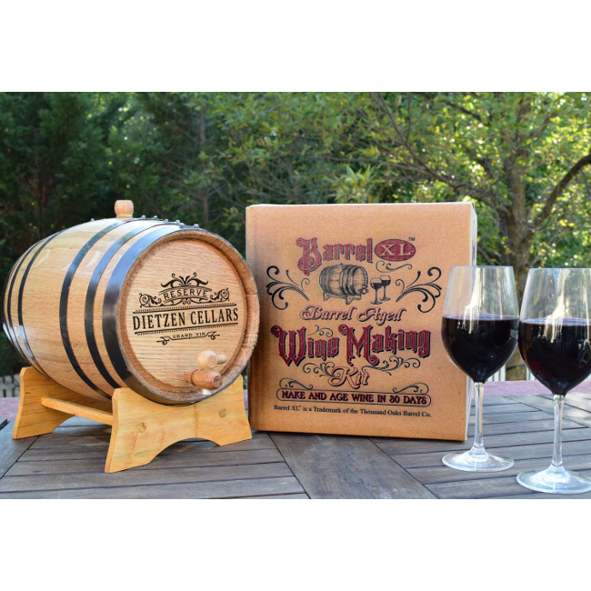 Personalized XL Barrel Aged Cabernet Home Wine Making Kit