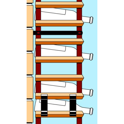 Attachex Wine Rack Wall Strap