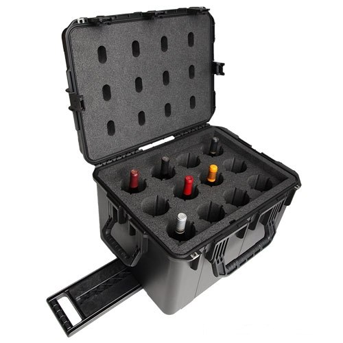 WineCruzer 12 Bottle Wine Suitcase with Wheels