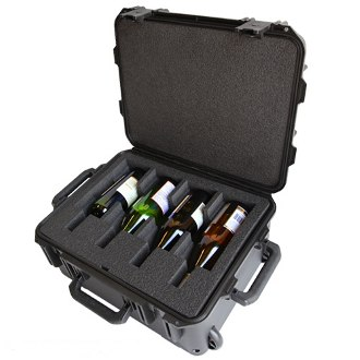 WineCruzer Ultimate 4 Bottle Wine Suitcase With Wheels