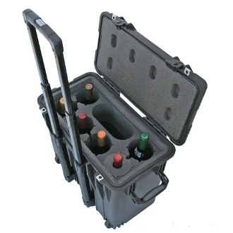 WineCruzer 6 Bottle Wine Suitcase with Wheels