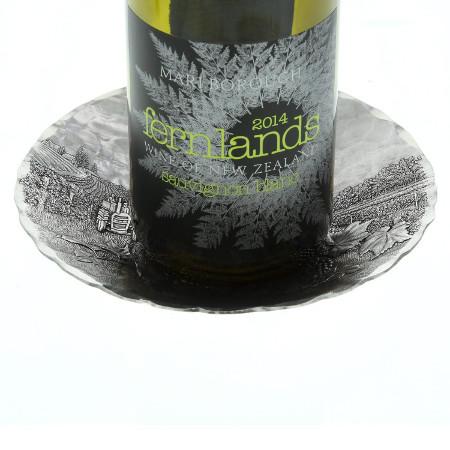 Vineyard Round Wine Bottle Coaster