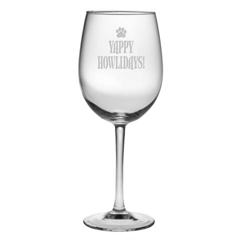 Yappy Howlidays Stemmed Wine Glasses (set of 4)