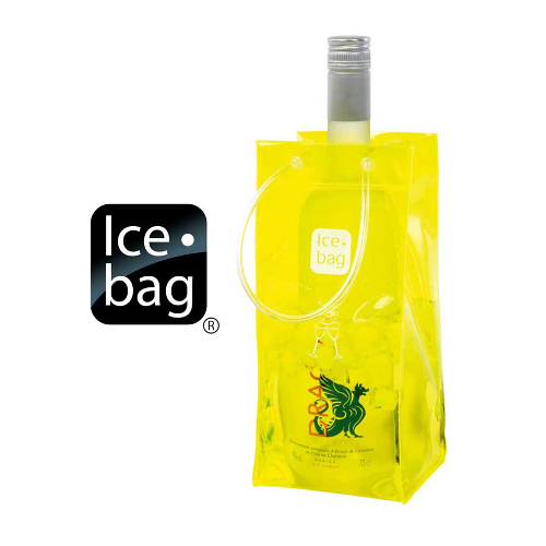 Ice Bag Collapsible Wine Cooler Bag, Yellow