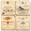 French Wine Labels Marble Coasters