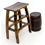 Wine Stave Bar Stool