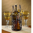 Wine Bottle and Wine Glasses Wrought Iron Caddy