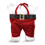 Santa Pants Velour Double Wine Bottle Bags (set of 102)