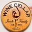 Chiseled Wine Cellar Barrel Head Wall Plaque
