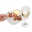 Acrylic Buffet Plates with Wine Glass Holder (set of 36)
