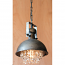 Metal Dome Pendant Lamp with Hanging Gems