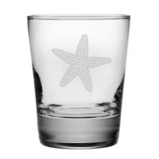 Starfish Etched Dof Glass Set